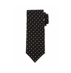Small-dot Textured Silk Tie by Tom Ford in Designated Survivor