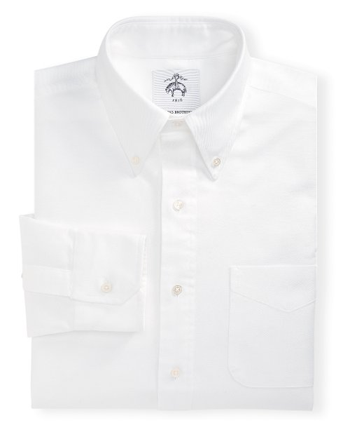 Button-Down Oxford Shirt by Black Fleece in Black or White
