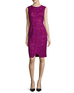 Corded Floral Lace Sheath Dress by J. Mendel in Suits