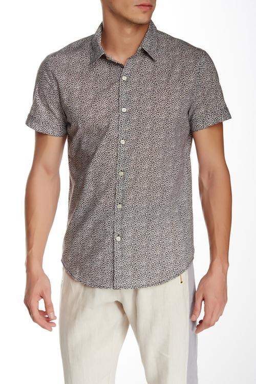 Elation Short Sleeve Slim Fit Shirt by Parke & Ronen in Pretty Little Liars - Season 6 Episode 3