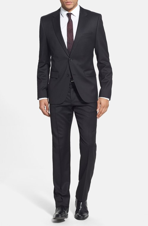 'Aeron/Hamen' Extra Trim Fit Wool Suit by Boss Hugo Boss in The Man from U.N.C.L.E.