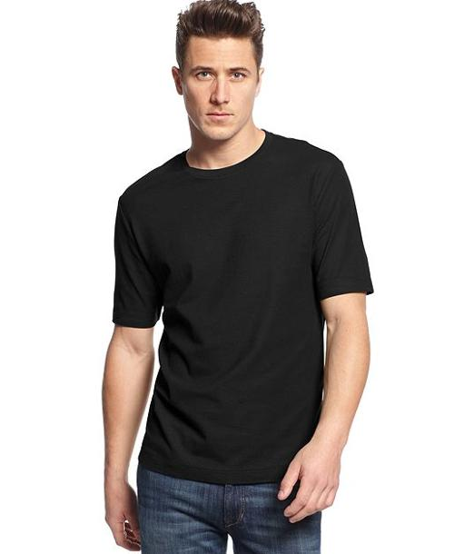 Short Sleeve Solid Performance Crew Neck T-Shirt by Club Room in Savages