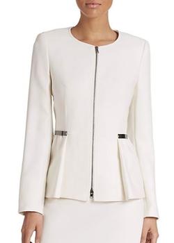Wool Zip-Front Peplum Jacket by Escada in The Good Wife