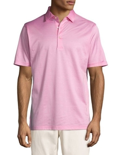 Fran Jacquard Cotton Lisle Polo Shirt by Peter Millar in Ballers