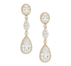 Cubic Zirconia Linear Drop Earrings by Nadri in The Fate of the Furious