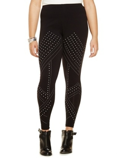 Studio Graphic Studded Leggings by Eloquii in Pitch Perfect 2