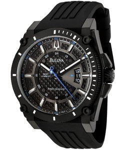 Precisionist Black Rubber Carbon Fiber Watch by Bulova in Ride Along 2