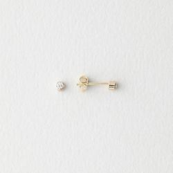 Diamond Bezel Stud Earrings by Grace Lee in Suits