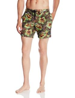 Men's Camo Bloom 7 Inch Ripstop Boardshort by Maui & Sons in Savages