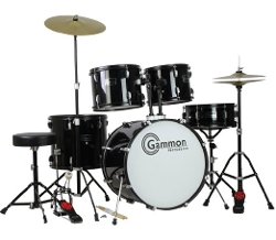 Drum Set with Cymbals Stands Stool Sticks by Gammon Percussion in Love & Mercy