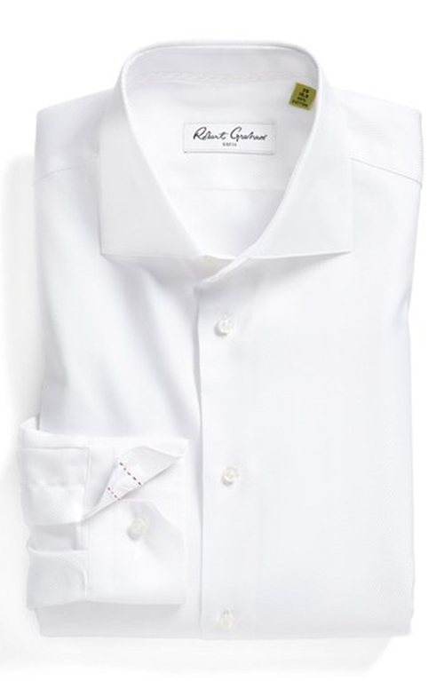 Regular Fit Dress Shirt by Robert Graham in Legend