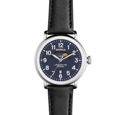 Runwell Moon Phase Watch by Shinola in Atomic Blonde
