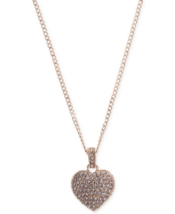 Crystal and Marcasite Pavé Heart Pendant Necklace by Judith Jack in New Girl