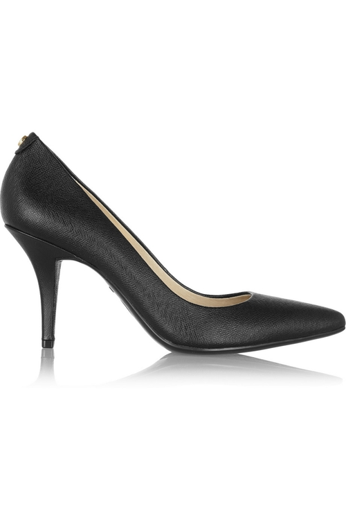 Flex Textured-Leather Pumps by Michael Michael Kors in Daddy's Home