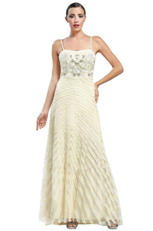Chevron Pattern Gown by Sue Wong in Crimson Peak