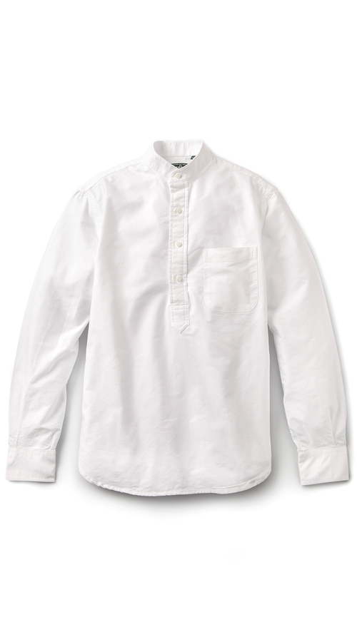 Banded Collar Oxford Popover by Gitman Vintage in The Giver