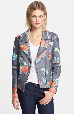 'Lazer' Print Leather Jacket by Veda in Pretty Little Liars