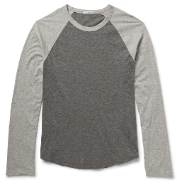 Marled Long-Sleeved Raglan T-Shirt by James Perse in Ex Machina