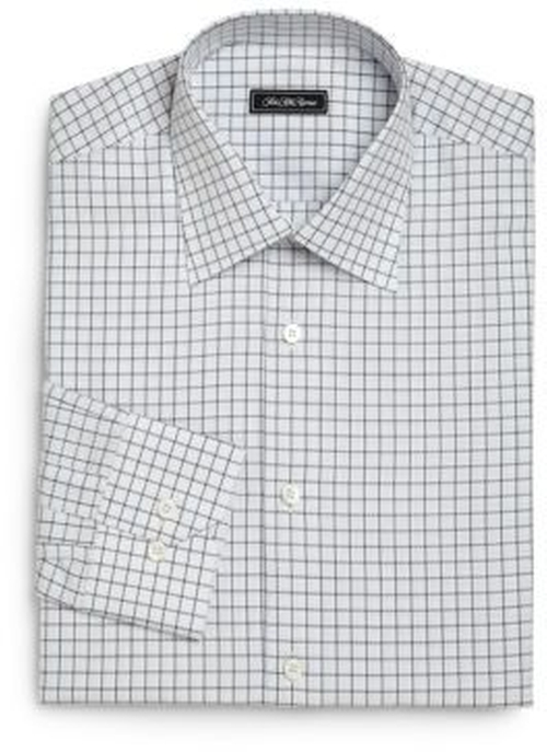 Regular-Fit Checked Dress Shirt by Saks Fifth Avenue Collection in Power - Season 3 Preview