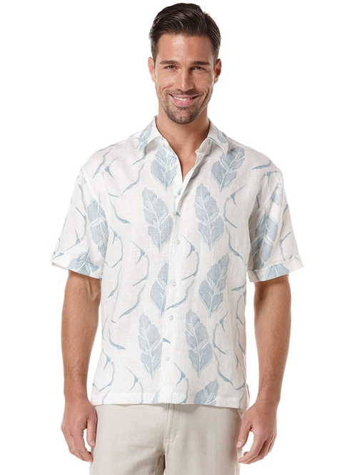Short Sleeve Leaf Print Shirt by Cubavera in Paper Towns