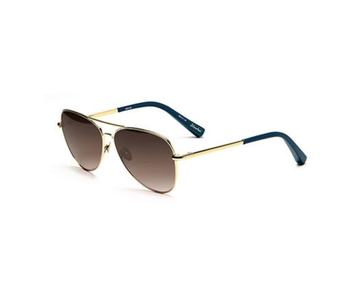 Stanton Stainless Steel Aviator Sunglasses by Elizabeth and James in Sisters