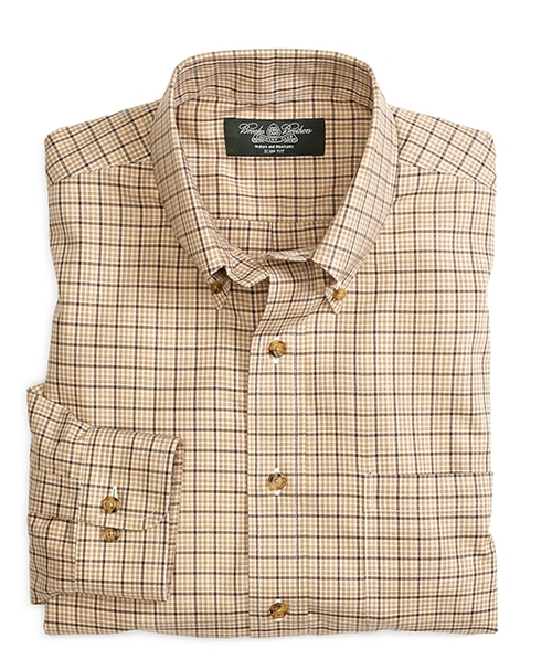 Cashmere Check Sport Shirt by Brooks Brothers in Clueless