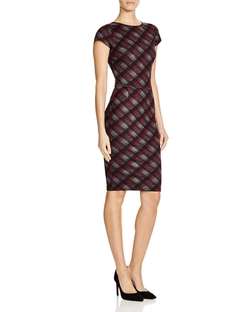 Plaid Bodycon Dress by Aqua in Scandal