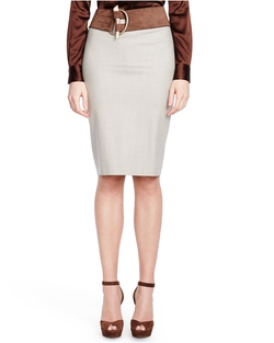 Fallon Stretch-Wool Skirt by Ralph Lauren in Suits