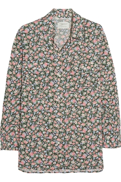 The Perfect Floral-Print Voile Shirt by Current/Elliott in The Big Bang Theory
