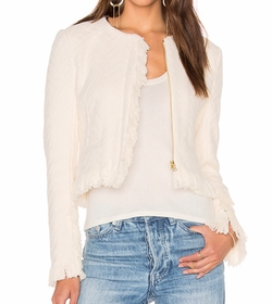 Short Fringe Detail Jacket by Derek Lam 10 Crosby in Scream Queens