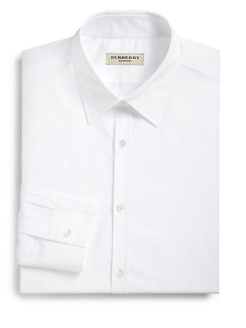 Treyforth Solid Dress Shirt by Burberry London in Suits - Season 5 Episode 1