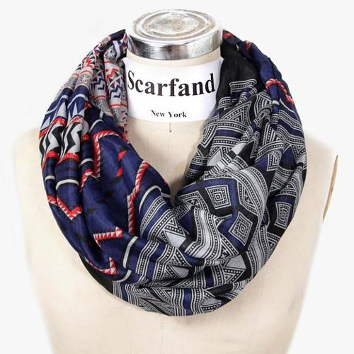 Mixed Infinity Brick Scarf by Scarfand in We're the Millers
