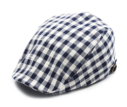 Gingham Check Hunting Cap by NOM in Scream Queens