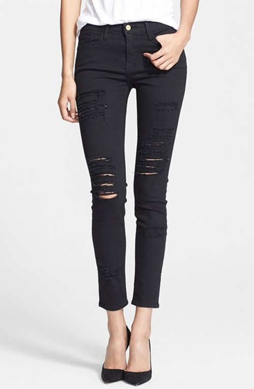 'Le Color Rip' Skinny Jeans by Frame Denim in Keeping Up With The Kardashians - Season 11 Episode 4