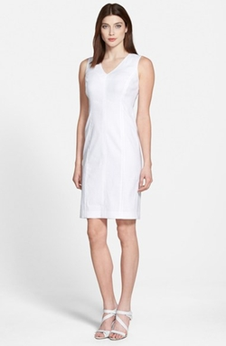 'Charisma' V-Neck Sheath Dress by Lafayette 148 New York in Suits