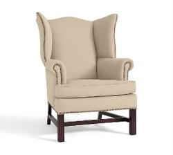 THATCHER UPHOLSTERED WINGBACK CHAIR by Pottery Barn in Oculus