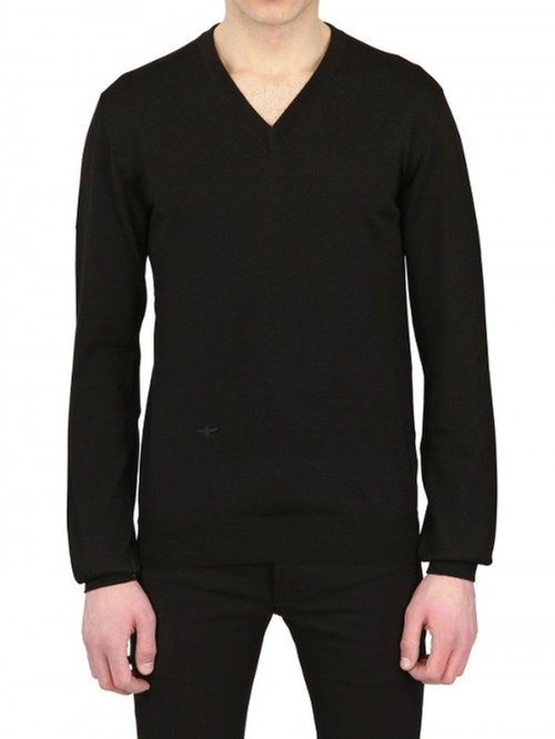 Bee Embroidered Wool V Neck Sweater by Dior Homme in Crazy, Stupid, Love.