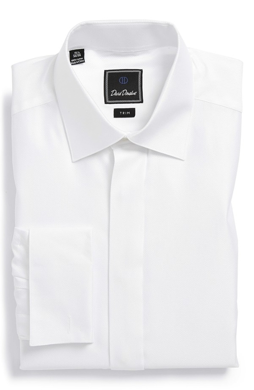 Trim Fit French Cuff Tuxedo Shirt by David Donahue in The Hangover