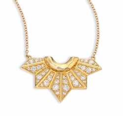 Fan Pendant Necklace by Ron Hami in Keeping Up With The Kardashians