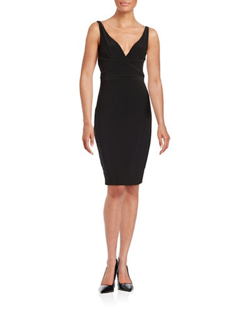 V-Neck Sheath Dress by Laundry By Shelli Segal in Shadowhunters