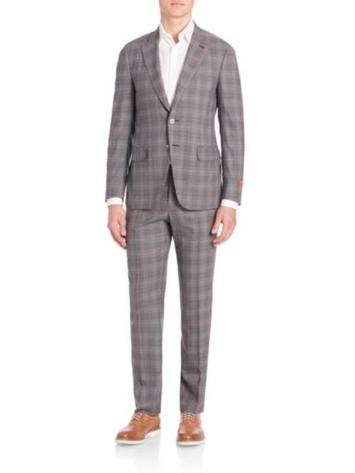 Plaid Two Button Wool Suit by Isaia  in Ballers - Season 1 Episode 10
