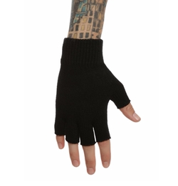 Black Knit Fingerless Gloves by Hot Topic in Jessica Jones