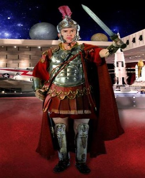 Custom Made Roman Commander Armor Costume (Octavius) by Marlene Stewart (Costume Designer) in Night at the Museum: Secret of the Tomb