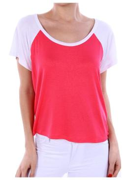 Women's Two Tone Colored Raglan Baseball Jersey T-Shirt by G2 Chic in Laggies
