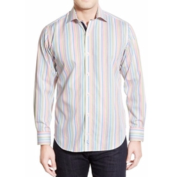 'Sand Stripe' Long Sleeve Sport Shirt by Tailorbyrd in The Good Place