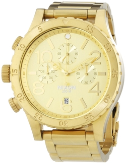 Men's 48-20 Chrono All Gold Watch by Nixon in Ballers