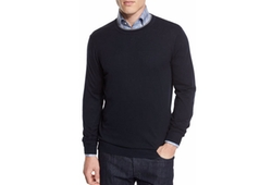 Contrast-Trim Crewneck Sweater by Neiman Marcus in Suits