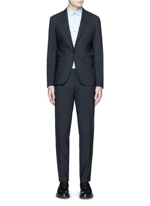 Tokyo Slim Fit Stretch Wool Suit by Dsquared2 in Billions - Season 1 Episode 4