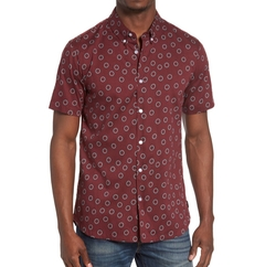 Ring Print Woven Shirt by RVCA in New Girl