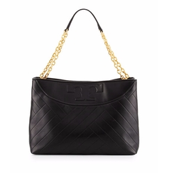 Alexa Quilted Leather Tote Bag by Tory Burch in Animal Kingdom